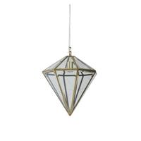 Light & Living Hanglamp 'Xaya' 35cm, brons+glas, kleur