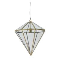 Light & Living Hanglamp 'Xaya' 45cm, brons+glas, kleur