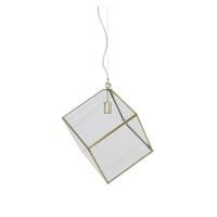 Light & Living Hanglamp 'Xavi', brons+glas