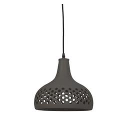 vtwonen Hanglamp 'Mercurius' 33cm, keramiek donker grijs