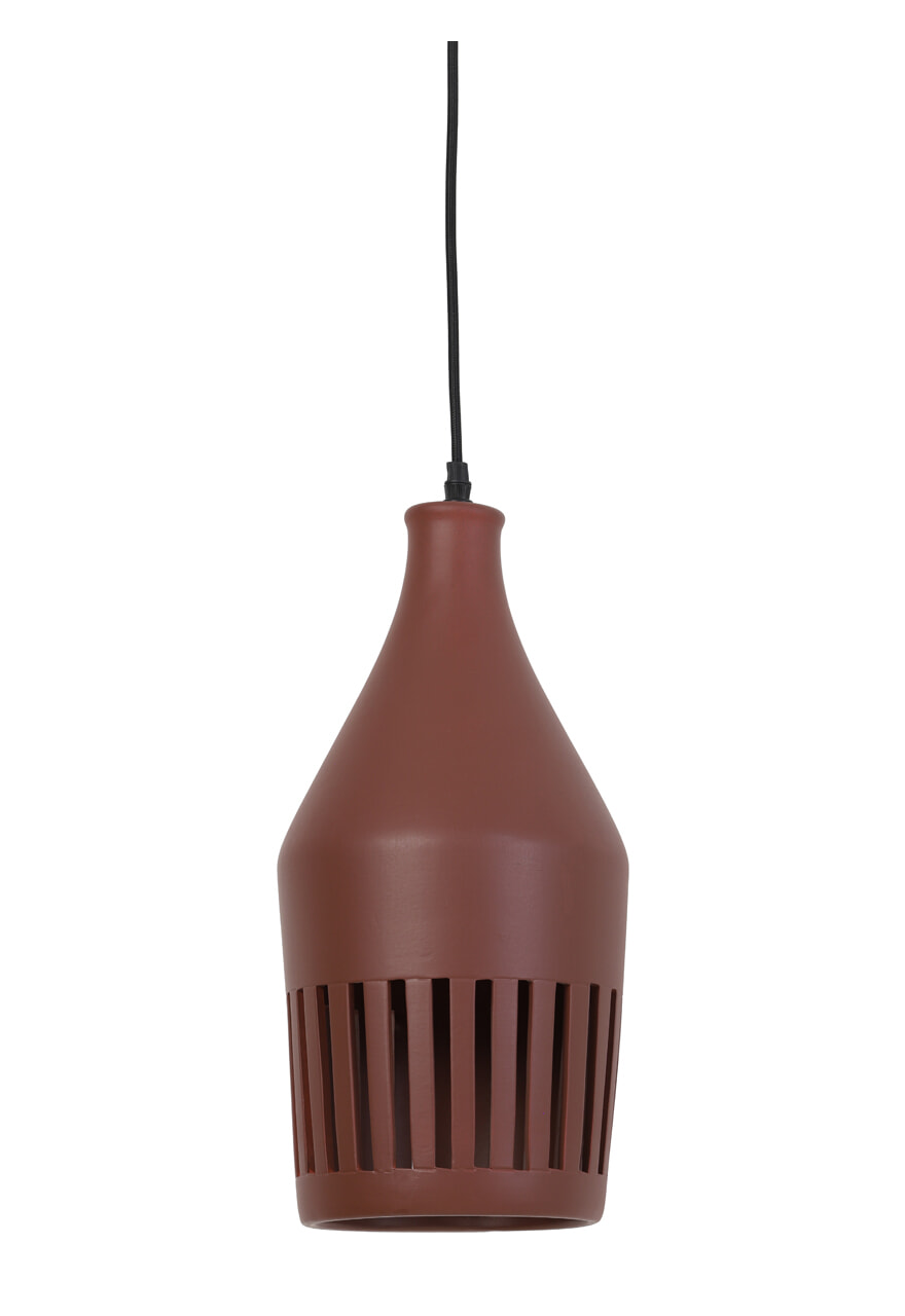 vtwonen Hanglamp 'Twinkle' 19cm, keramiek bruin