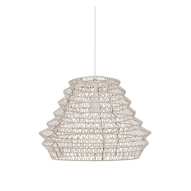 vtwonen Hanglamp 'Flame' 55cm, leer naturel