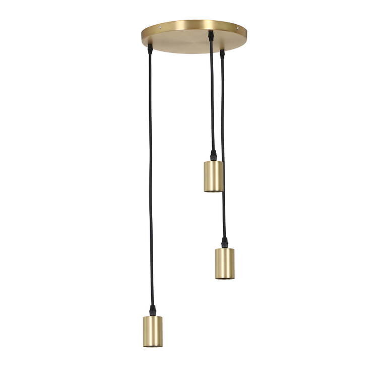 Light & Living Hanglamp 'Brandon' 3-Lamps, antiek brons
