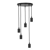 Light & Living Hanglamp 'Brandon' 5-Lamps, kleur Zwart