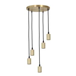 Light & Living Hanglamp 'Brandon' 5-Lamps, antiek brons
