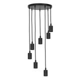 Light & Living Hanglamp 'Brandon' 7-Lamps, kleur Zwart