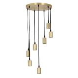 Light & Living Hanglamp 'Brandon' 7-Lamps, kleur Brons