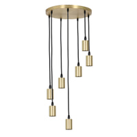 Light & Living Hanglamp 'Brandon' 7-Lamps, antiek brons