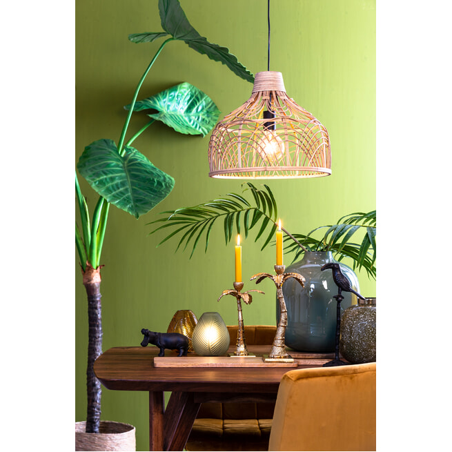 Light & Living Hanglamp 'Pocita' 42cm, rotan naturel