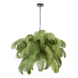 Light & Living Hanglamp 'Feather' kleur Olijfgroen