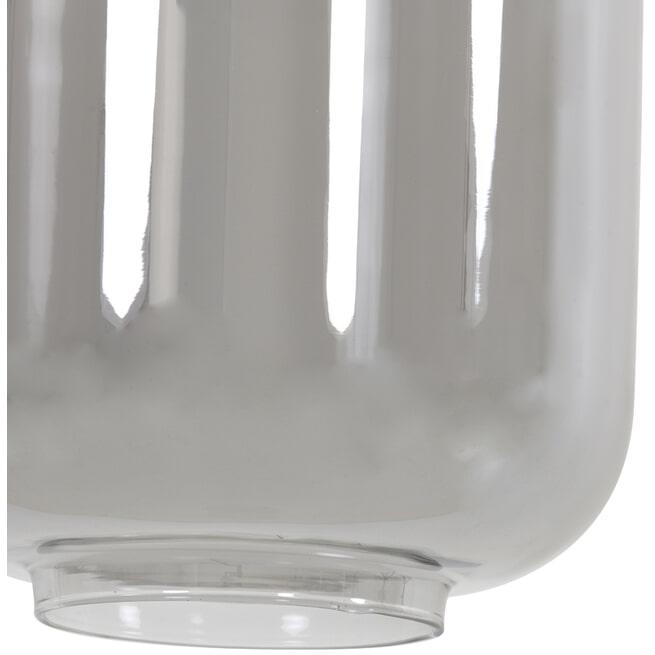 Light & Living Hanglamp 'Lekar' 5-Lamps, antiek brons+smoke glas, 110cm