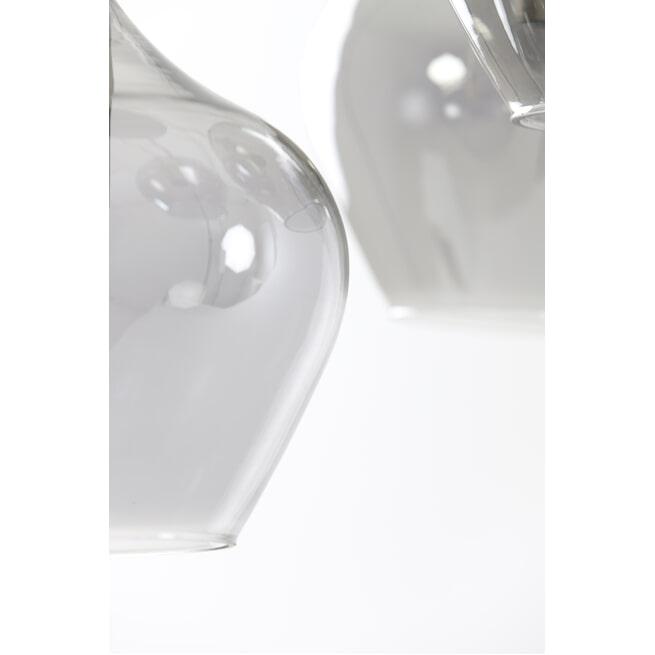 Light & Living Hanglamp 'Rakel' 5-Lamps, antiek brons+smoke