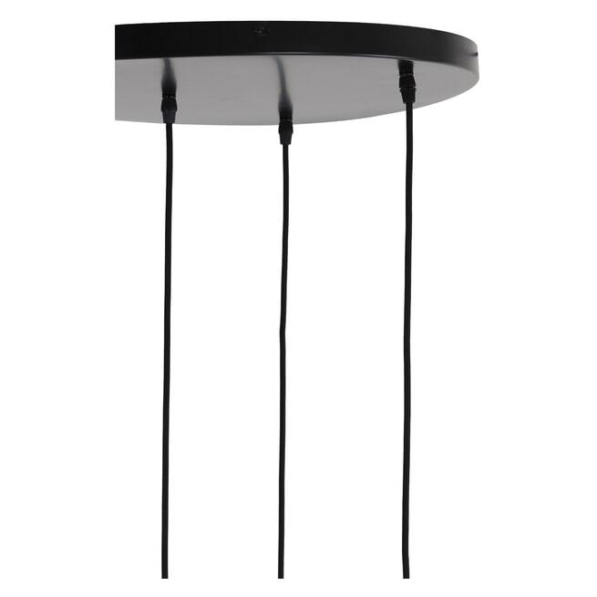 Light & Living Hanglamp 'Lekar' 5-Lamps, kleur Antiek Brons/Smoke