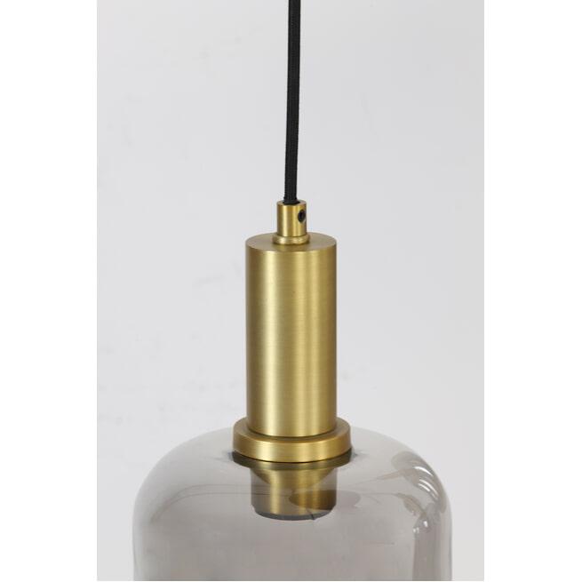 Light & Living Hanglamp 'Lekar' 9-Lamps, kleur Antiek Brons/Smoke