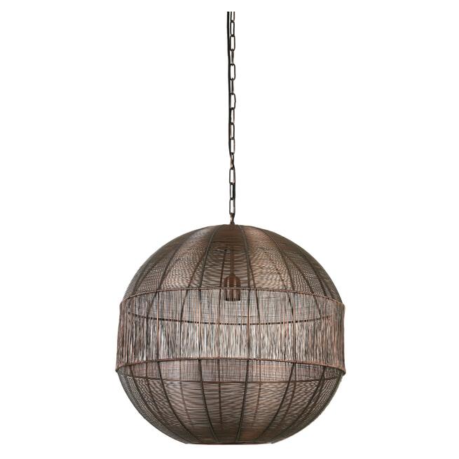 Light & Living Hanglamp 'Pilka' 55cm, antiek koper