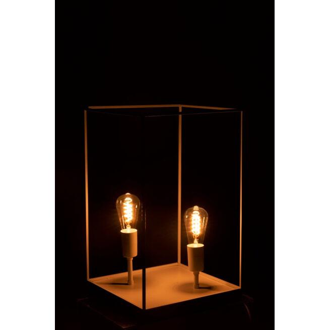 J-Line Rechthoekige Lamp 'Constantin' Large, 2-lamps, kleur Wit