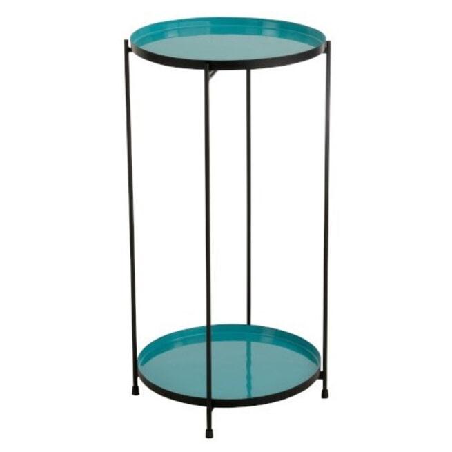 J-Line Bijzettafel 'Seraphina' kleur Turquoise