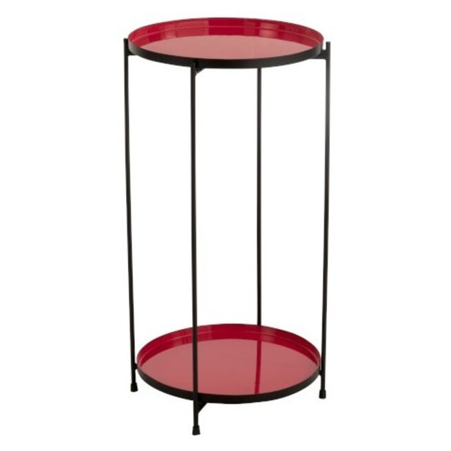 J-Line Bijzettafel 'Trinette' kleur Rood