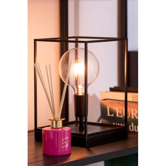 J-Line Rechthoekige Lamp 'Huberta' Small, kleur Zwart