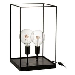 J-Line Rechthoekige Lamp 'Emmanuella' 2-lamps, Large, kleur Zwart