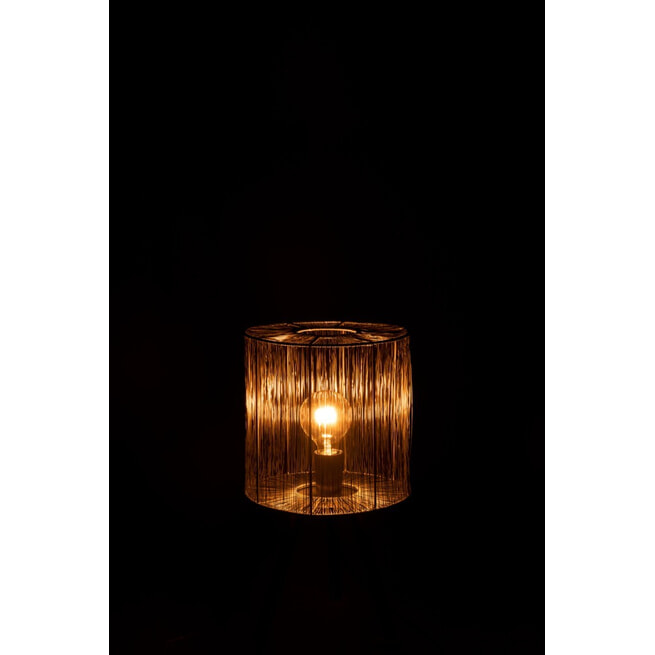 J-Line Tafellamp 'Denisia' Small, kleur Roest Bruin, Ø25,5cm