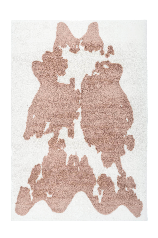 Kayoom Vloerkleed 'Rabbit Cow' kleur bruin / wit, 160 x 230cm