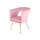 Kayoom Eetkamerstoel 'Jolene' Velvet, kleur roze