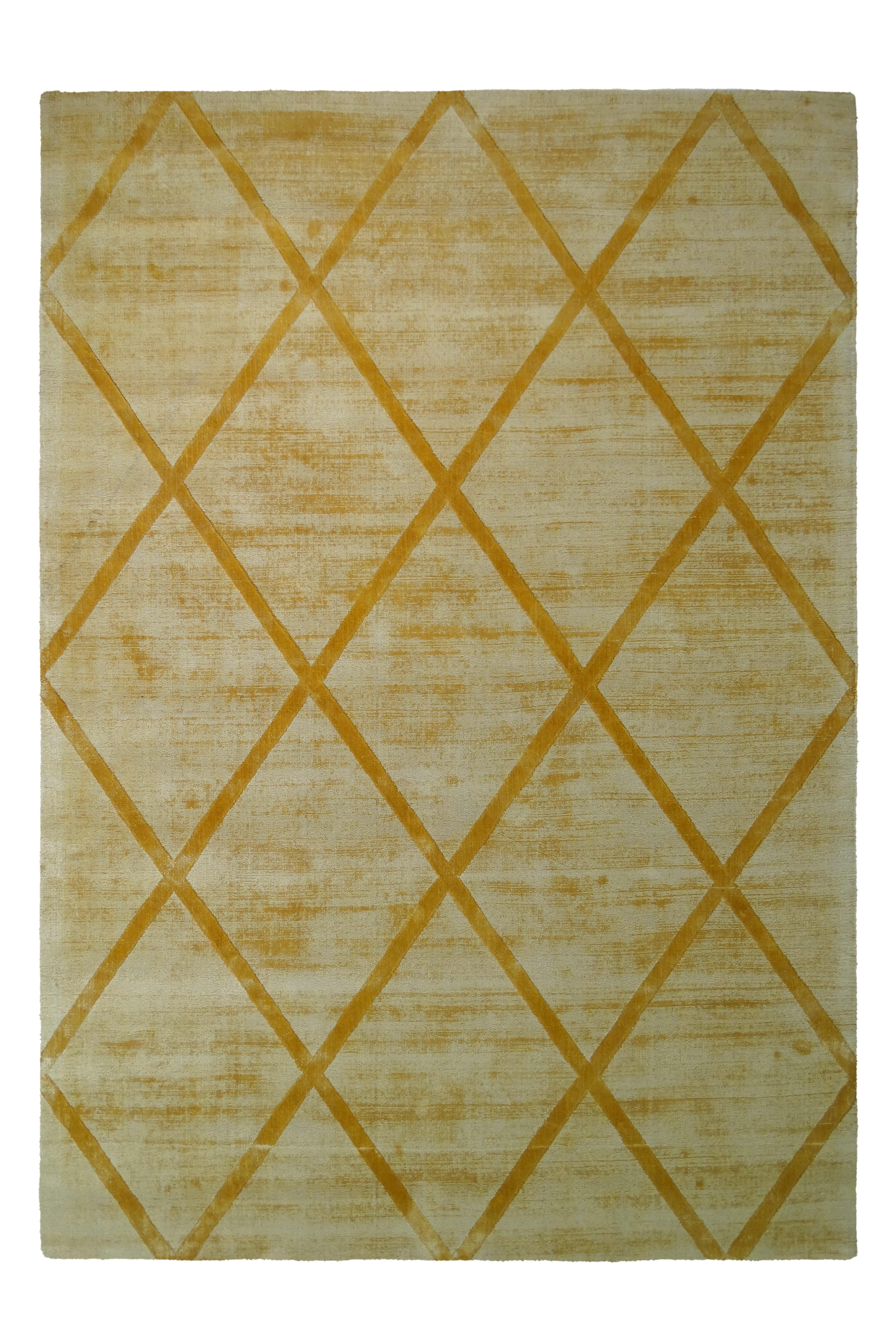 Kayoom Vloerkleed 'Luxury 210' kleur Oker / Geel, 120 x 170cm