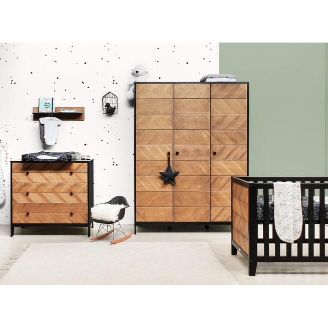 Bopita Ledikant 'Job' 60 x 120cm, kleur zwart