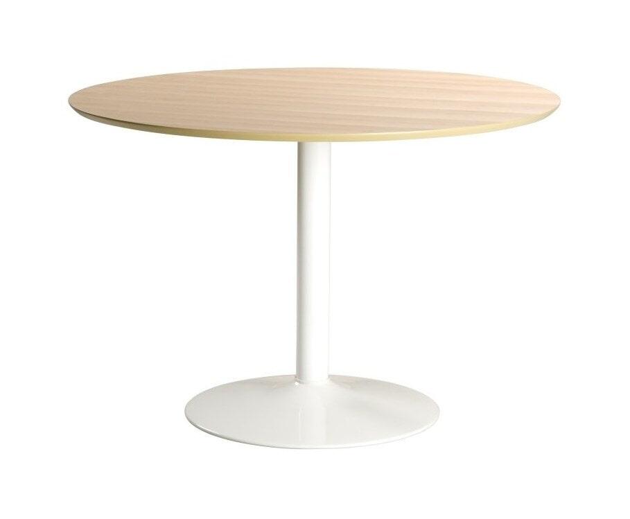 Bendt Ronde Eettafel 'Ina' 110cm, kleur Eiken/Wit
