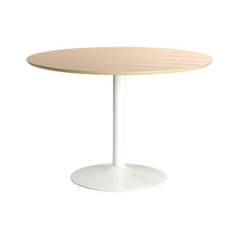 Bendt Ronde Eettafel 'Ina' 110cm, kleur wit / eiken