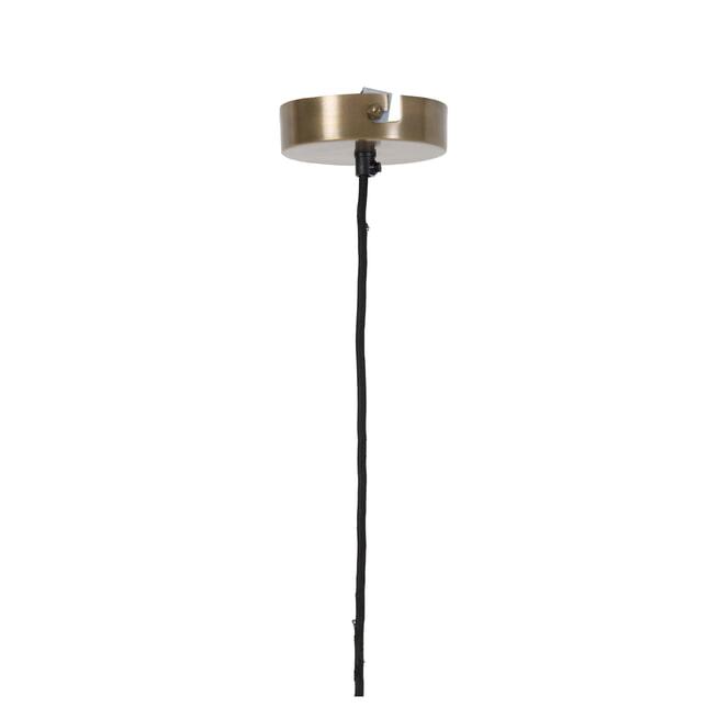 Light & Living Hanglamp 'Sage' 23cm, glas bruin-antiek brons