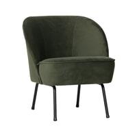 BePureHome Fauteuil 'Vogue' Velvet, kleur Onyx (Groen)