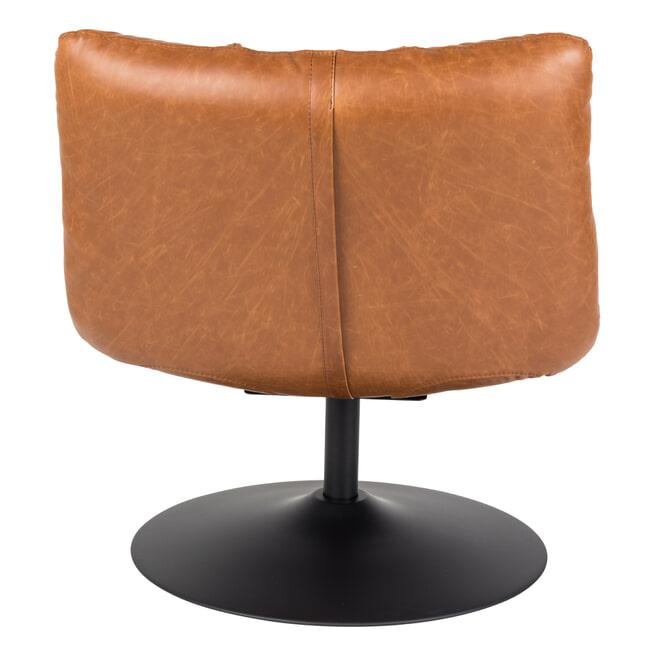 Dutchbone Fauteuil 'Bar' PU, kleur Vintage Bruin