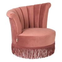 Dutchbone Fauteuil 'Flair', kleur Roze