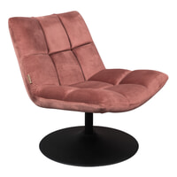 Dutchbone Fauteuil 'Bar' Velvet, kleur Roze