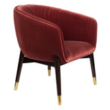 Dutchbone Fauteuil 'Dolly', kleur Burgundy