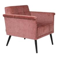 Dutchbone Fauteuil 'Sir William', kleur Roze