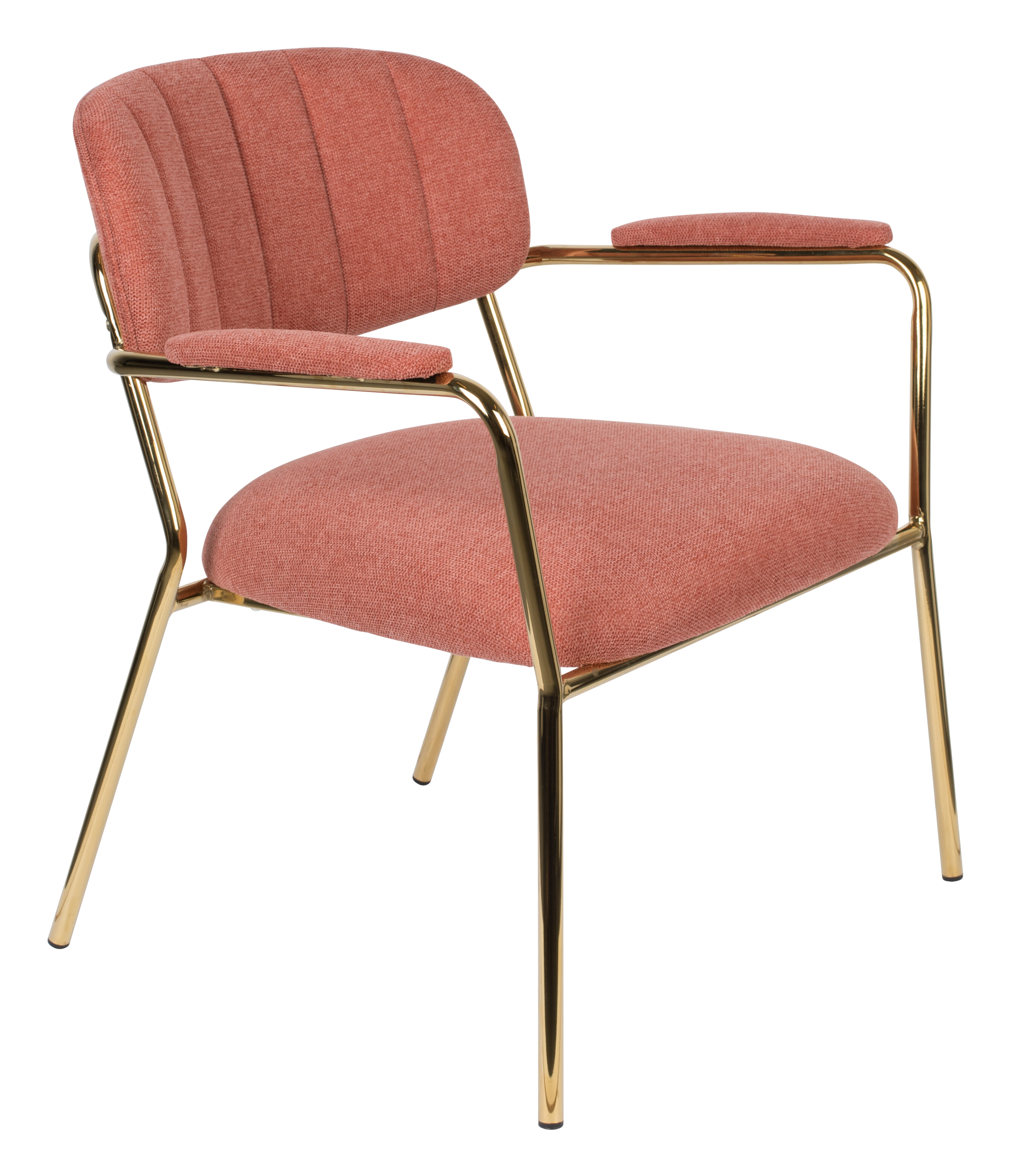 ZILT Fauteuil 'Kolten' met armleuning, kleur Goud/Roze