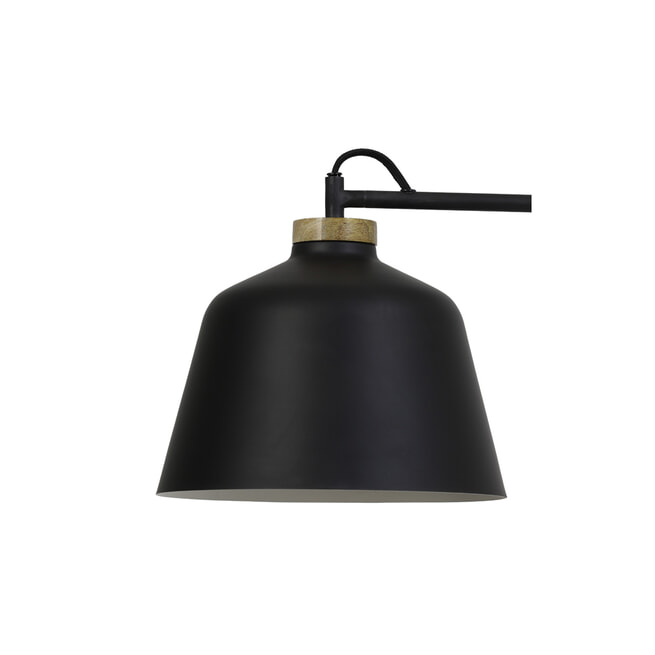 Light & Living Wandlamp 'Banu', hout zwart