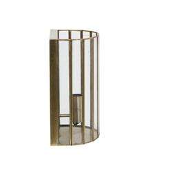 Light & Living Wandlamp 'Strøby', antiek brons+glas