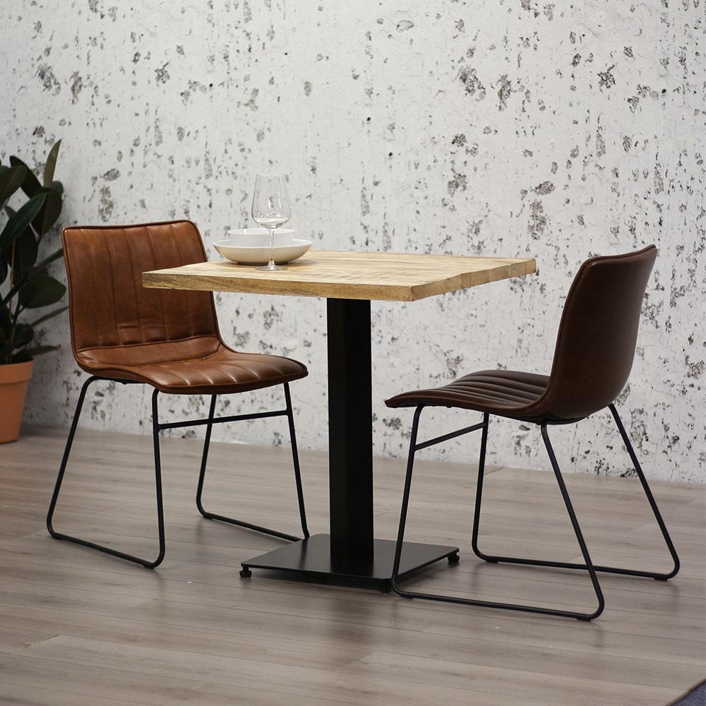 Brookvin Vierkante Eettafel 'Industry' Mangohout, 70 x 70cm