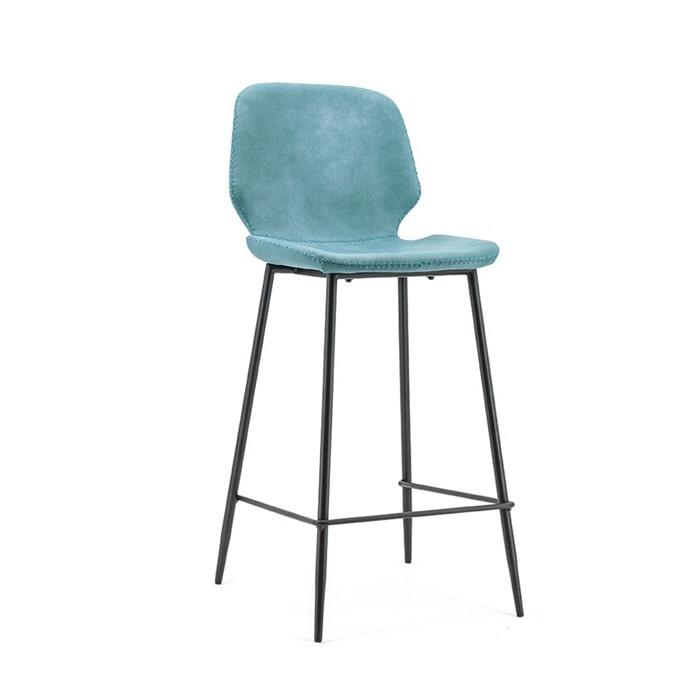 By-Boo Barkruk 'Seashell', kleur Blauw (zithoogte 75cm)