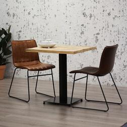 Brookvin Vierkante Eettafel 'Industry' Mangohout, 90 x 90cm