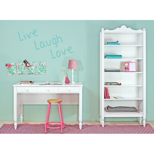 Bopita Bureau 'Belle' 128cm, kleur wit