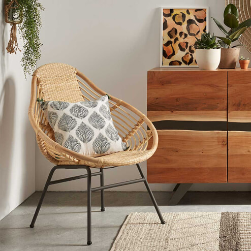 Kave Home Fauteuil 'Colleen', kleur Naturel