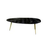 LivingFurn Salontafel 'Organic' kleur Black & Gold, 110 x 55cm