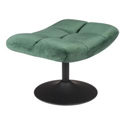 Dutchbone Hocker 'Bar' Velvet, kleur Groen