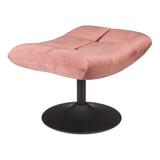 Dutchbone Hocker 'Bar' Velvet, kleur Roze