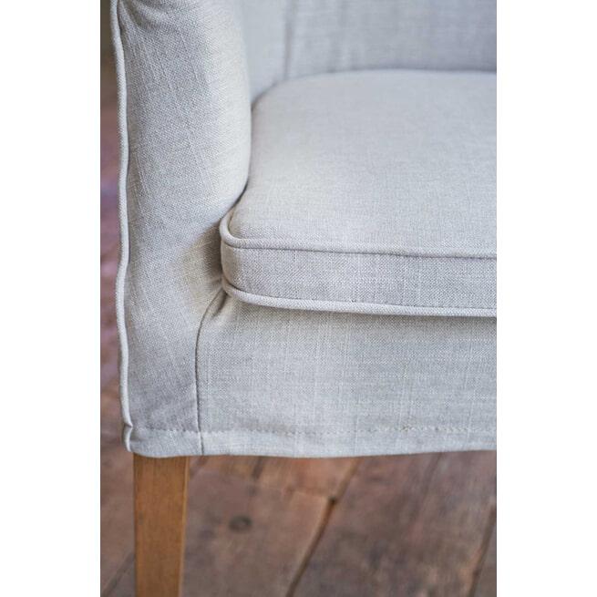 Rivièra Maison Eetkamerstoel 'Waverly' Linen, kleur Flax